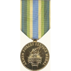 Anodized Armed Forces Service Medal