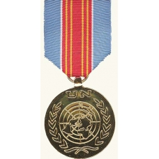 Anodized UN Advance Mission in Macedonia Medal