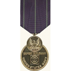 Anodized Navy Rifle Expert Medal