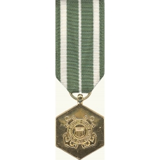 Anodized Mini Coast Guard Commendation Medal