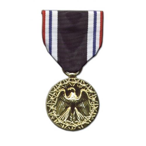 Anodized Mini P O W  Medal